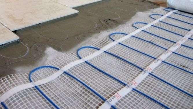 کابل حرارتی گرمایش از کف برقی